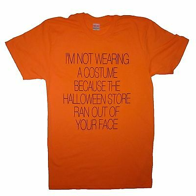 halloween store ran out of your face funny costume t shirt tee cute ghost party