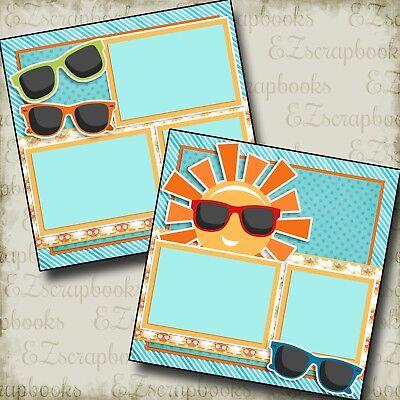 SUNGLASSES - 2 Premade Scrapbook Pages - EZ Layout (Sunglasses Layout)