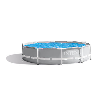 Intex 26700EH 10ft x 30in Prism Metal Frame Above Ground Backyard Swimming -