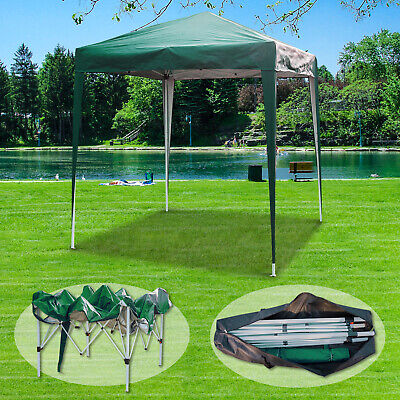 2x2m Green Gazebo Marquee Pop Up Canopy Waterproof Outdoor Garden Party Tent