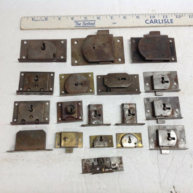 18 Vintage Drawer/Desk/Cabinet Locks No Keys