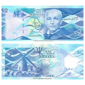 Barbados 2 Dollars 2013  P-73 Banknotes About UNC