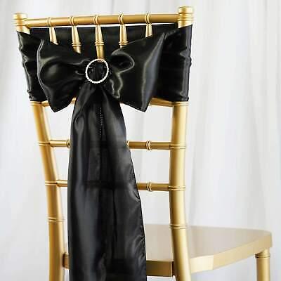 5/PK ~NEW~ Satin Chair Sash Bow Wedding Party Banquet 20+ - Wedding Bows