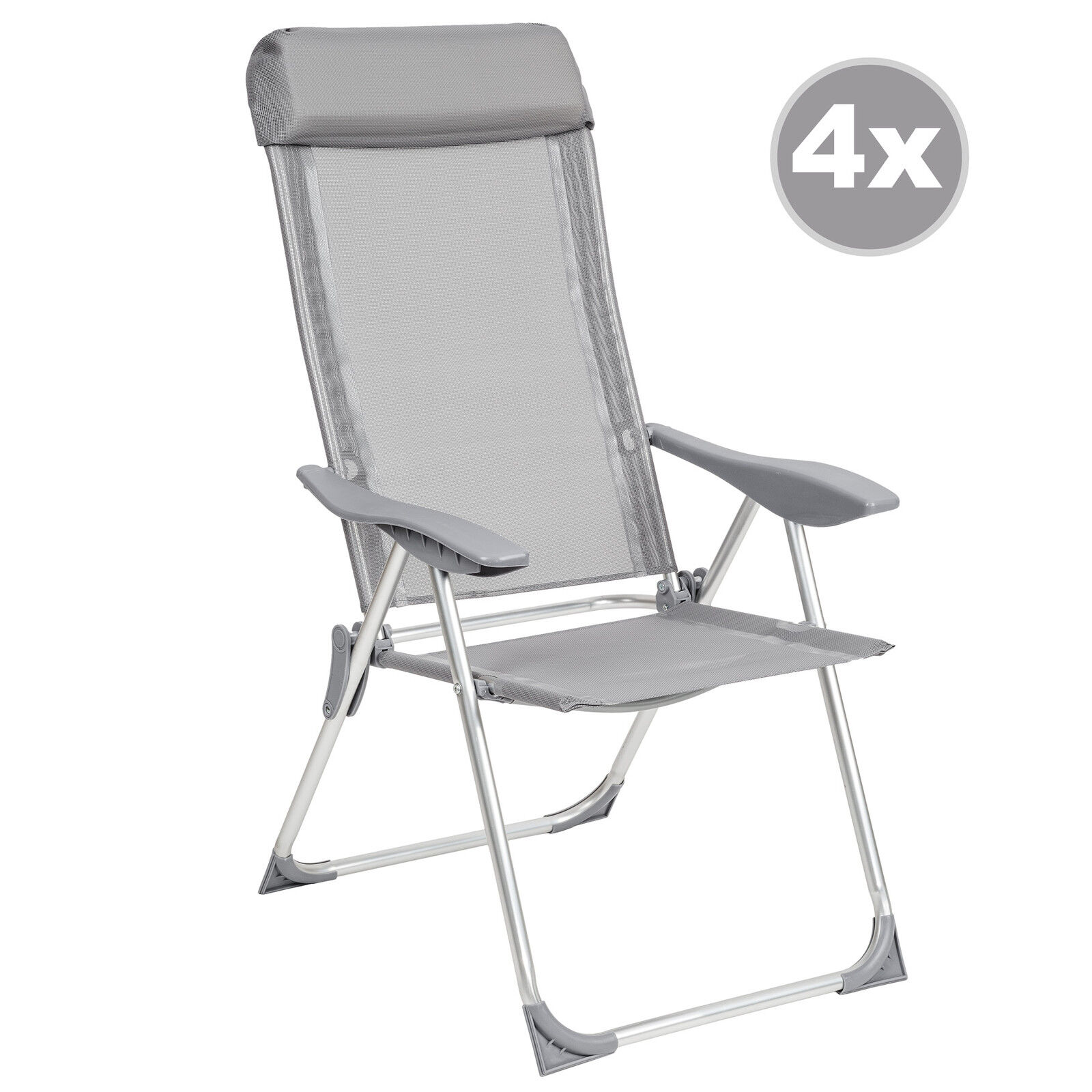 4 aluminio sillas de jard n plegable alu sill n balc n - Sillas para balcon ...