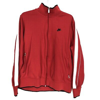 Nike Mens XL Red Track Jacket Full Zip Long Sleeve Athletic Active Pockets Mens Athletic Active Jacket