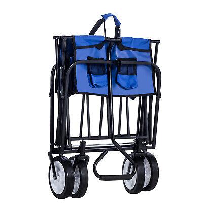 Kid Cart Folding Wagon Garden Beach Utility Toy Sport Buggy (Foldable Utility Cart)