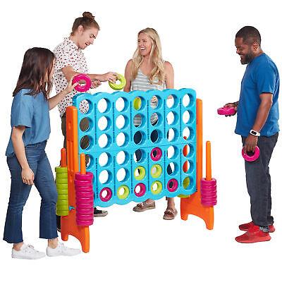 ECR4Kids Jumbo 4-To-Score Giant Game-Indoor/Outdoor 4-In-A-Row for Kids & Adults](Adult Outdoor Games)