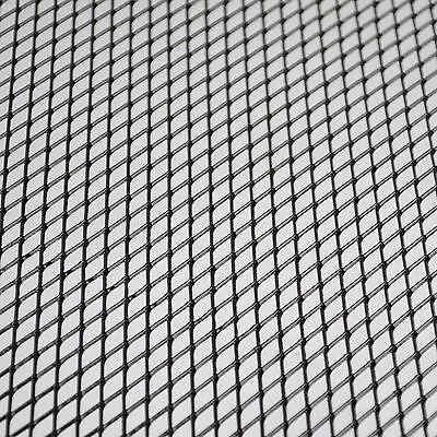 Aluminium racing grille mesh vent car tuning grill black colour size 100cm x 30