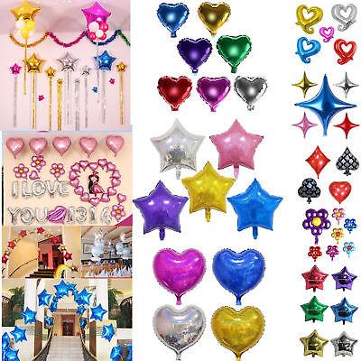 Glitter Star/Herz Helium Folienballon Party Hochzeit Geburtstag Dekor Ballon (Glitter Hochzeit Dekor)