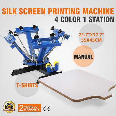 4 Color Screen Printing Press Machine Silk Screening Pressing Diy With 1 Station