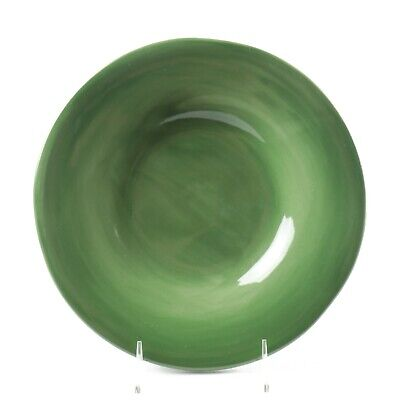 Pottery Barn SAUSALITO Moss Green Hand Painted - 1 Salad Plate 10