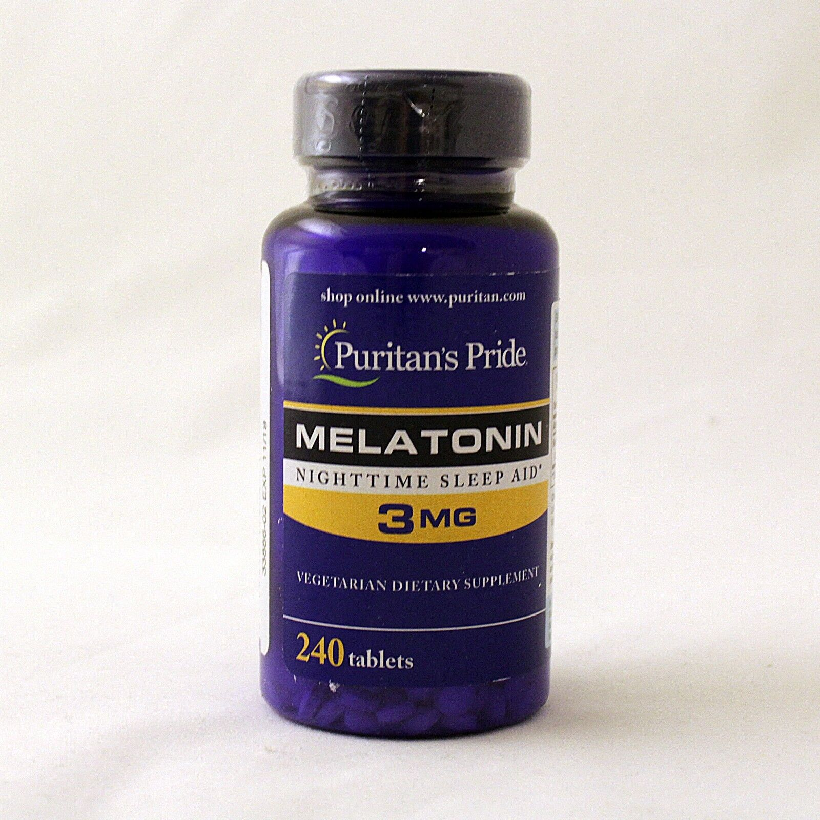 Puritan's Pride Melatonin 3 mg 240 Tablets Sleep Aid 2 x 120