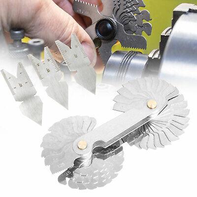 4pcs Screw Thread Pitch Cutting Gauge Tool Set Centre Gage 5560 Inch Metric