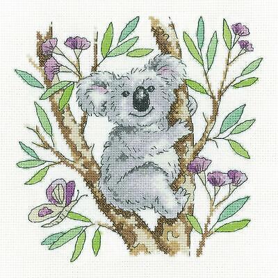 Heritage Crafts Cross Stitch Kit - Koala (Aida)