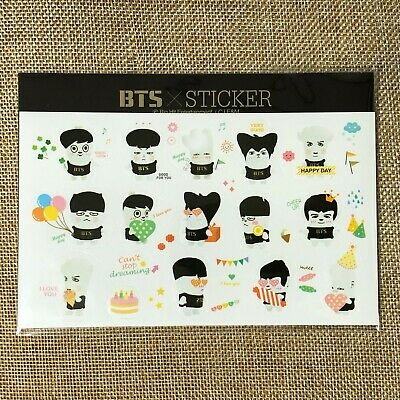BTS GROUP [ SKOOL LUV AFFAIR Official Sticker SET ] / NEW, RARE / +Shop GIFT