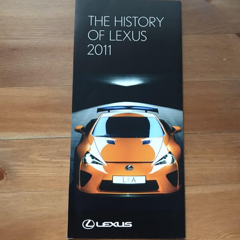 Lexus LFA LS ES SC RX LX GX ISF History Model Toyota Auto 1989-2011 Manual