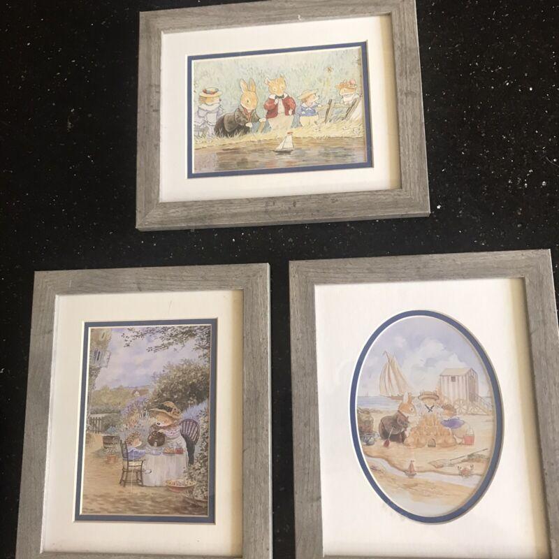 Beatrix Potter Float Frame Matted Nursery Pictures Set Of 3