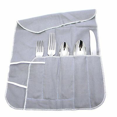 Set of 8 - 5 pc piece Silverware Storage Wrap Roll Anti Tarnish place setting - Silverware Wraps