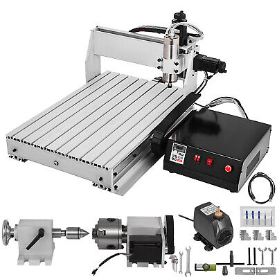 4 Axis CNC Router 6040 Machine 4 Rotating Axis Milling 1605