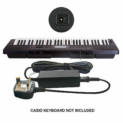 DC 9.5V 9.5 Volts Power Supply Mains Adapter for Casio Keyboard Piano LK-240