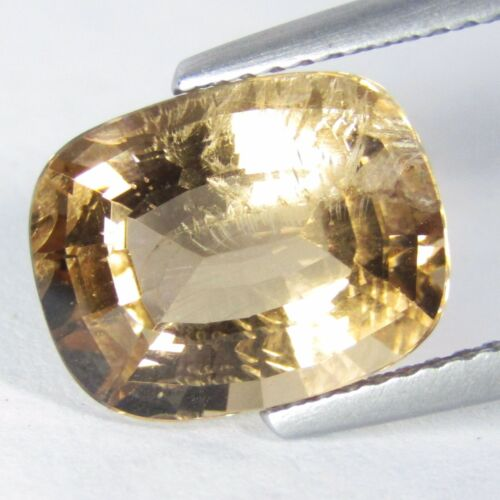 4.20Cts Natural Amazing Peach Color Morganit Cushion Shape Collection Ref VDO