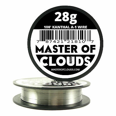 100 Ft - 28 Gauge Awg A1 Kanthal Round Wire 0.32mm Resistance A-1 28g Ga 100
