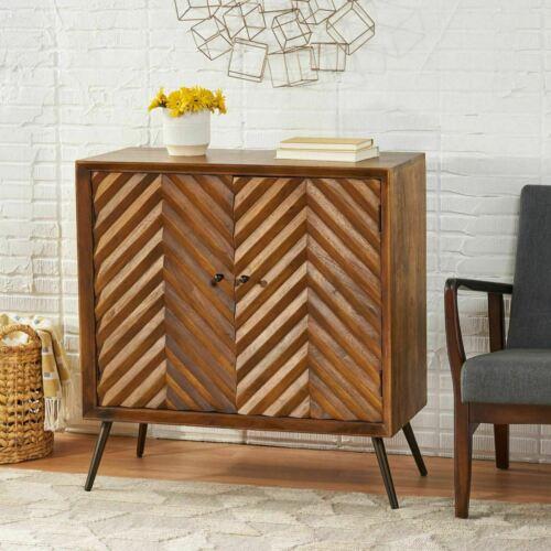 Yordani Mid-Century Modern Handcrafted Mango Wood Sideboard Furniture