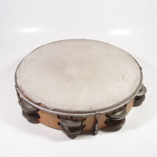 """Vintage 10"""" Wooden Tambourine Double Row Ludwig?"""