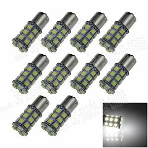 10X-White-1156-G18-Ba15s-27-5050-LED-Turn-Signal-Rear-Light-Bulb-Lamp-D007