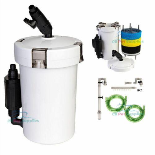 Mini External Canister Filter (L) Table Top Nano Fresh/Salt Aquarium