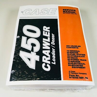 Case 450 Crawler Bulldozer Loader Service Repair Shop Manual Binder Ready New