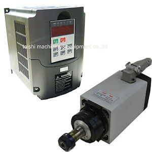 3kw Air Cooled Spindle Motor And Vfd Inverter Drive New Ebay