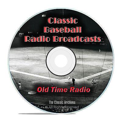 Baseball Old Time Radio Broadcasts, 693 Classic Sports Broadcast OTR DVD MP3 F99
