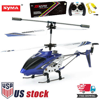 Syma S107G 3CH 3.5CH Mini Metal RC Helicopter with GYRO LED Light Blue for sale  Los Angeles