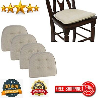 Dining Chair Pad Cushion Saturn Set of 4 Kitchen Dining Room Non-Slip Natural