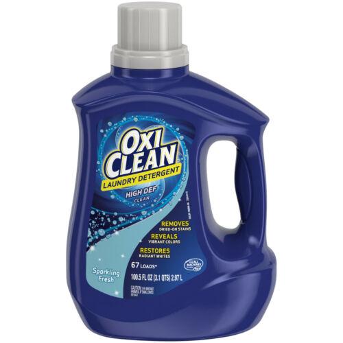 OxiClean Liquid Laundry Detergent, Sparkling Fresh Scent, 100.5 oz. NEW