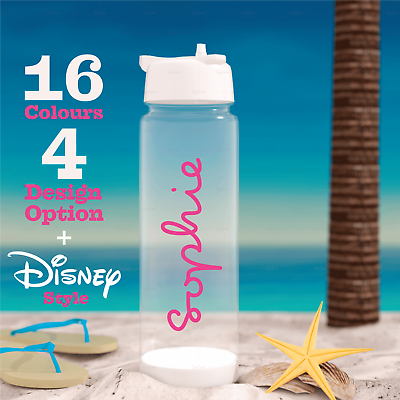 Home Decoration - PERSONALISED Love Island Text Name Water Bottle Sticker Custom Decal 16 colours
