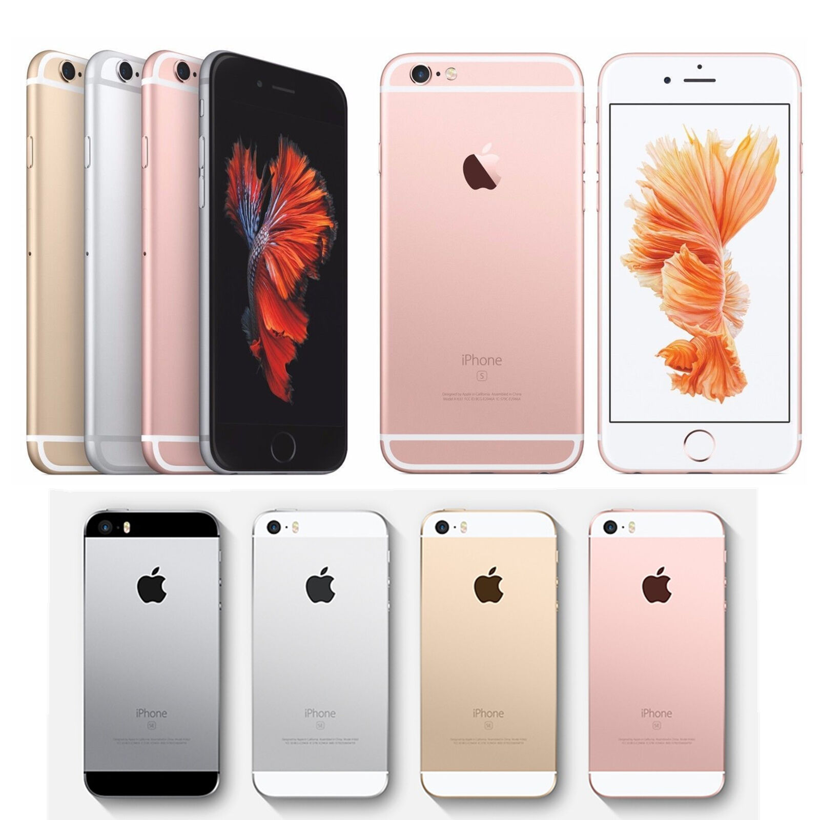 SELLER REFURBISHED APPLE IPHONE 6S PLUS/6 PLUS/6/5S 5C (FACTORY UNLOCKED)GRAY/SILVER/GOLD/ROSE GOLD