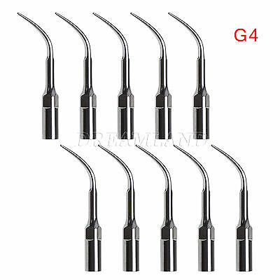 10pcs Dental Ultrasonic Piezon Scaler Tips G4 Fit Emswoodpecker Handpiece Ti-a