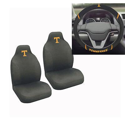 New NCAA Tennessee Volunteers Car Truck Seat Covers & Steering Wheel -