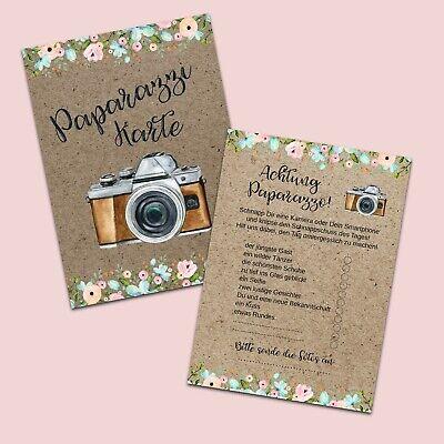 50 Fotokarten Hochzeit, Fotoralley Hochzeitsspiel, Fotospiel (Hochzeit Karten Spielen)