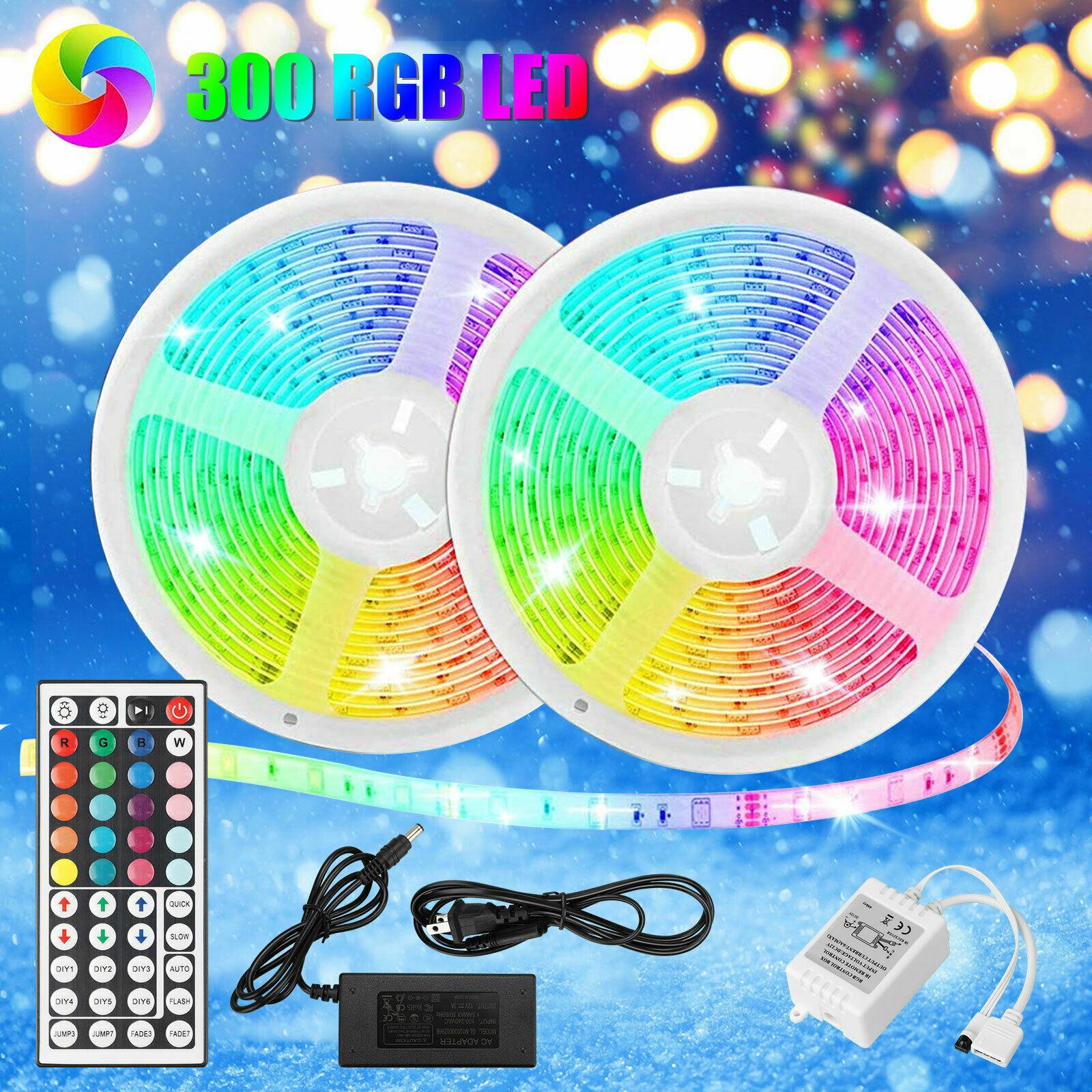 LED Strip Lighting 2*5M 32.8 Ft 3528RGB 300 LEDs Flexible Color Changing Light Home & Garden