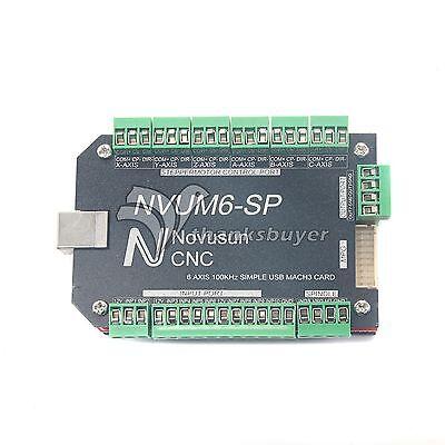 Usb Mach3 Interface Board 6-axis Cnc Controller 100khz F Stepper Motor Nvum6-sp