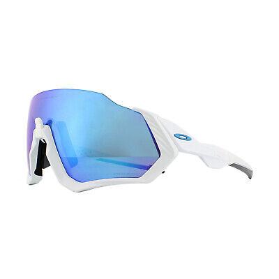 Oakley Gafas de Sol Chaqueta Vuelo OO9401-02 Mate Blanco Prizm Zafiro