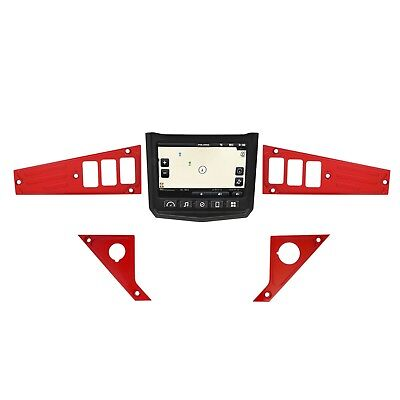 RED  Dash Panel Plates for Polaris XP1000 Ride Command