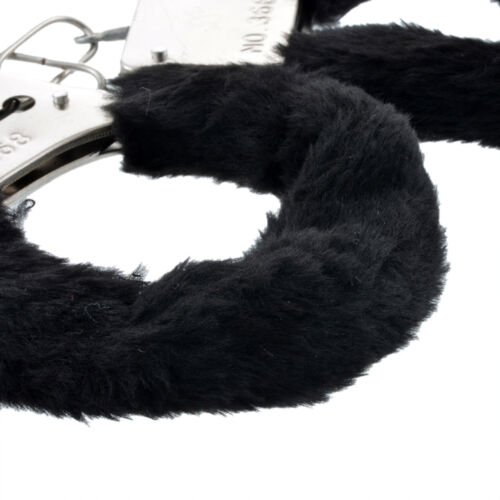 New Handcuffs Up Furry Fuzzy Sexy Slave Hand Ring Ankle Cuffs Restraint Bed Toys - $5.39