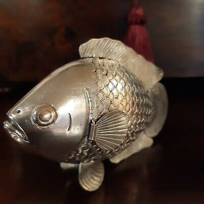 Antique Vintage Silver Articulated Fish