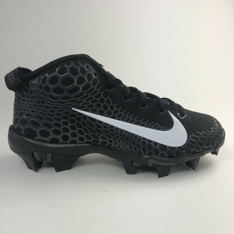 Nike Fastflex Force Zoom Trout 5 Black Baseball Cleat Kid Size 2 & 4y AJ9252-010