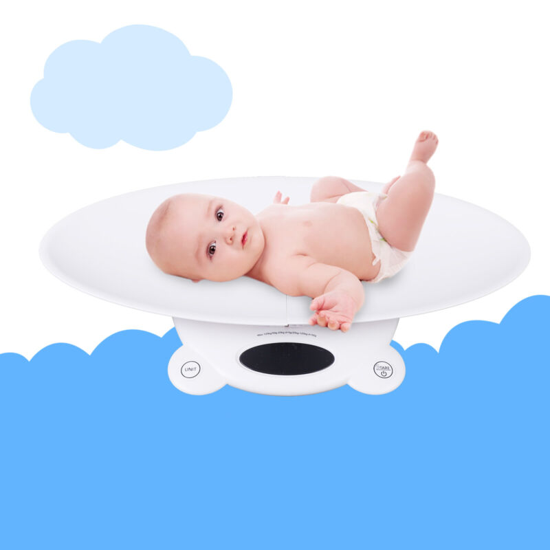 Multi-Function Baby Scale, Digital Toddler Scale Concave Design 65*32*8.8cm