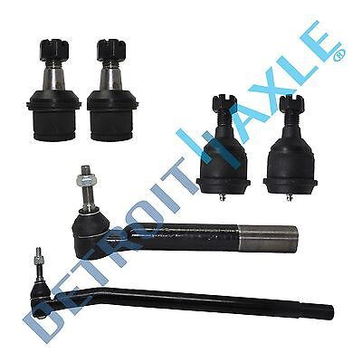 6pc Upper Lower Ball Joint Inner Outer Tierod for Ram 2008 - 2013 2500 3500 4WD